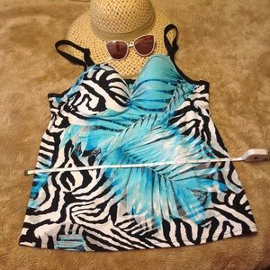 Lane Bryant Tankini swim Top size 38 D